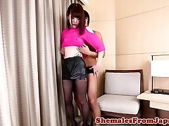 Smalltitted ladyboy booty-fucked hard after Sixty Nine