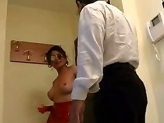 Super-steamy mature ladyboy in action