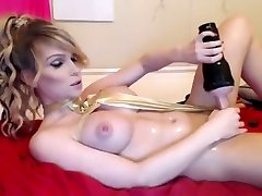 Amazing Homemade Transgirl pin with Solo, Masturbation scenes