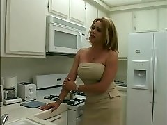 Sexy blonde transsexual gets her long thick weenie sucked