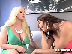 Alura Jenson gets Romped by T-girl Jessy Dub