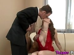 Sexy tgirl jism decorated