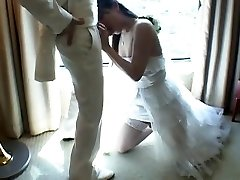 Chinese Tgirl Humps New Husband After Wedding