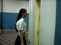 Ladyboy schoolgirl fucks her principal