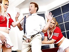 Sasha Ligaya, Chris Dano, Jesse Flores, Astrid Shay in Ts Cheerleaders #04