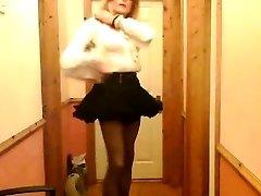 Limerick Sissy Mike Quinn Demonstrates Undergarments