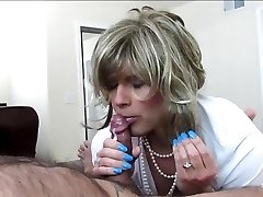 Sexy Crossdresser Sucks and Smashes