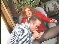 Candy B Vintage Tranny  sucks spunk-pump and fucks her lover