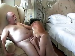 Redhead she-creature fucking with a old boy