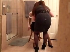 Naughty amateur transgender princess video with BDSM, Stockings scenes