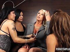 PornstarPlatinum - Alura Jenson Overwhelmed by Sheboys