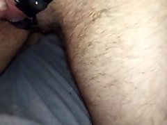 Transmale wearing corset and pissing in bed