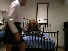 Ronni Cougar puts Brianna in the Superman Bind ...BONDAGE