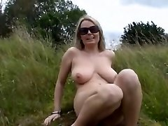 Massive Boobs Blonde Fingering In Nature BVR