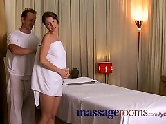 Massage Rooms Warm grease make-out ends in creampie