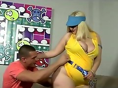Huge assed ash-blonde milf plowed in her fat ass