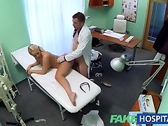 FakeHospital Blonde with big bra-stuffers wants to be a nurse