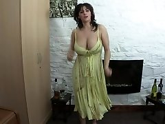 downblouse dancing and drinking champagne
