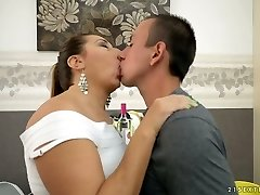 Lecherous mature dame Jodie gets drilled by a horny boy
