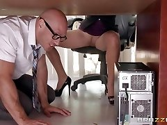 Boss Lela Starr gets hold of her colleague's big knob