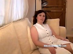 Busty mature cougar panty taunt and striptease