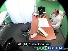 FakeHospital Nasty busty blonde receives a creampie from the doc