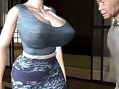 Animated milf with massive tits