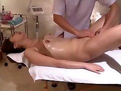 Squirms In Voyeur Shaven Massage