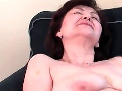 Huge-titted Granny Stroking
