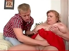 Granny with huge mammories fucks youthfull boy. Full movie. Grannie