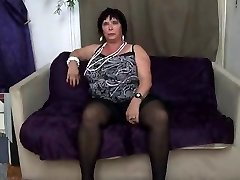 FRENCH BBW 65YO GRANNY OLGA POKED BY 2 DUDES - DP