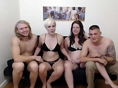 2 couples have fun around