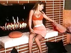 FIRE - vintage nylons striptease dance stockings big boobs