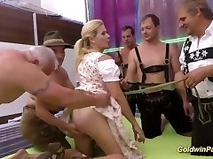 pierced big-titted stepmom in crazy gangbang