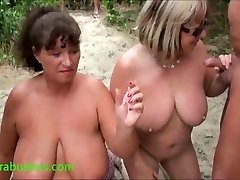 Granny Kims beach sperma party