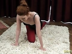 pliable redhead contortion nubile