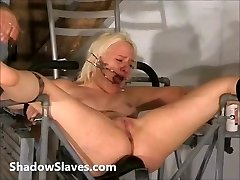 Two victims bizarre pussy punishments and whip