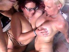 Reife Swinger - Insatiable German 3 way with mature swingers