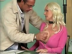 Buxom German Mature Screwing in Office