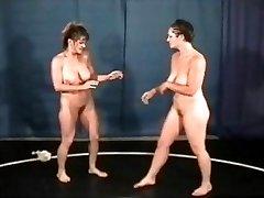 Bust Honies Nude Wrestling
