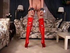Bondage disciplina lezione con una bionda calda