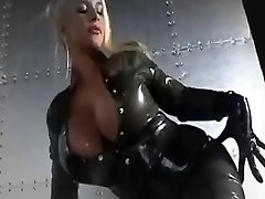 Beautiful latex caked bosoms and faces  music video