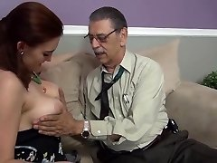 youthful girl first time fucked on camera by elderly man