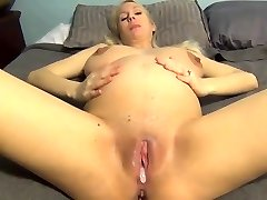 Buxomy pregnant wife internal cumshot