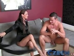 Czech Stud can't control his fuckpole and creampies sweet MILF agents cooch