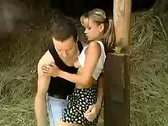 STP1 Cute Teenage Gets Nailed In The Barn !