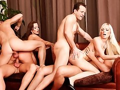 Cindy Dollar, Simone Style, Rachel Evans, Lena Cova in Five Incredible Bang-outs, Scene #05