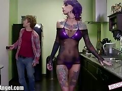 BurningAngel Emo Stripper gets Coochie Tearing Up