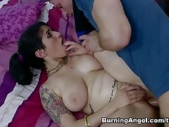 Incredible superstars Bill Bailey, Arabelle Raphael in Exotic Big Ass, Brunette adult pin