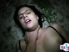 Italian mother and son creampie tonguing